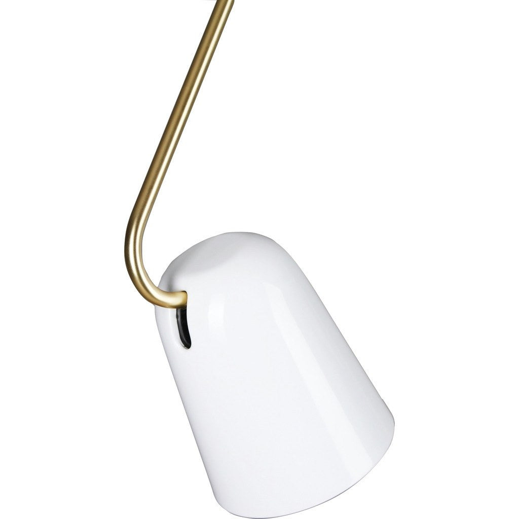 Seed Design Dobi Pendant Light | White/Brass