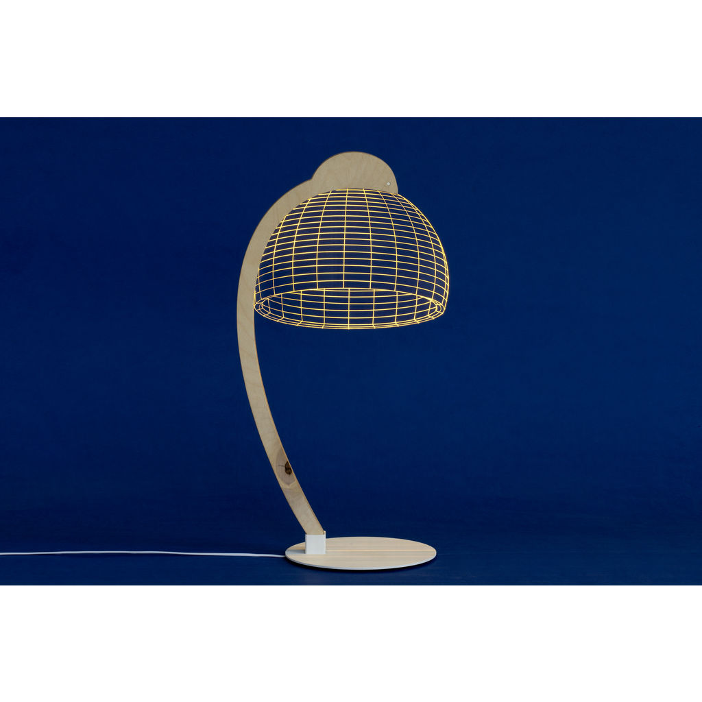 Studio Cheha Dome LED Table Lamp | Iron/Birch Ch-Dome