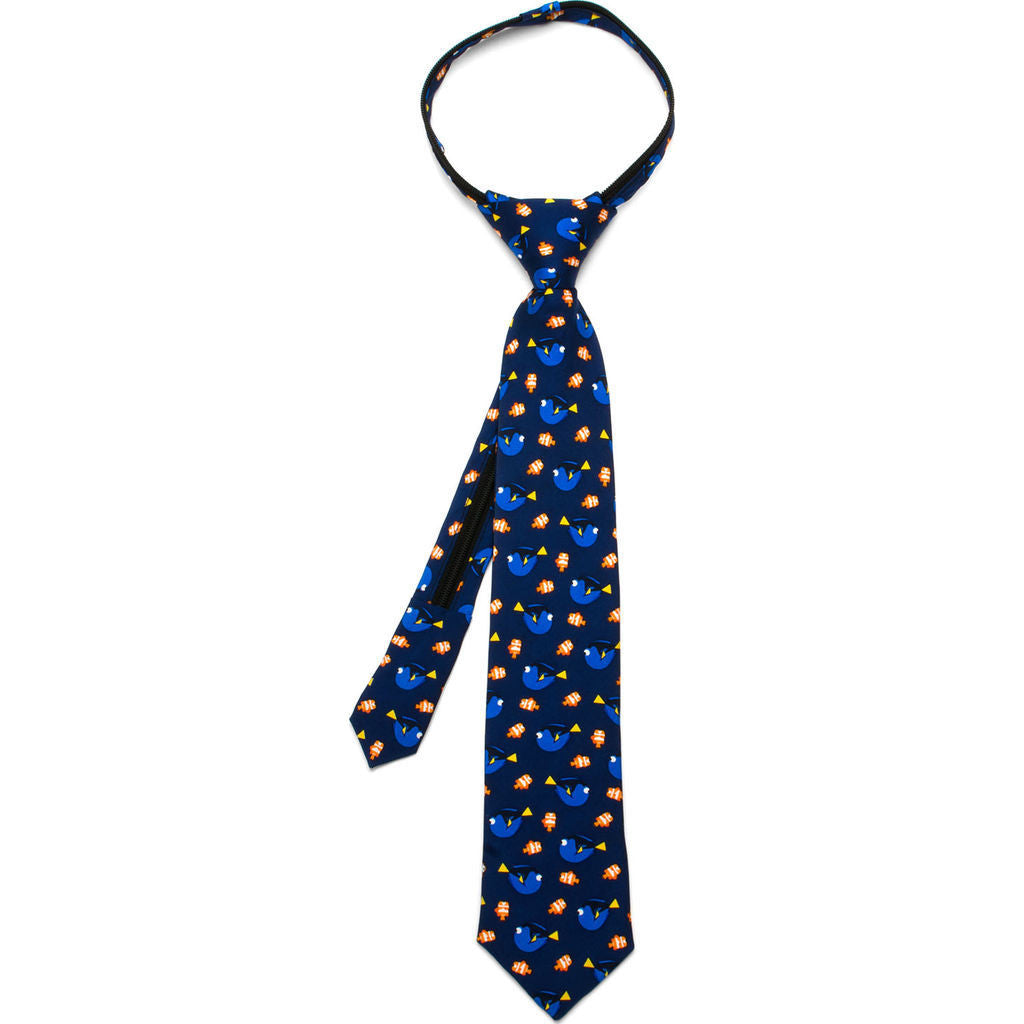 Cufflinks Disney Finding Dory Boys' Zipper Tie | Multi DP-DORY-BL-KT