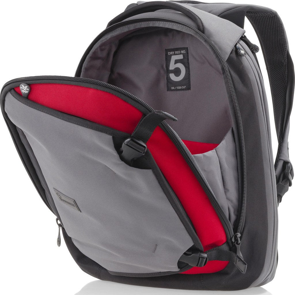 Crumpler Dry Red No 5 Backpack | Slate Grey DR5002-X06150