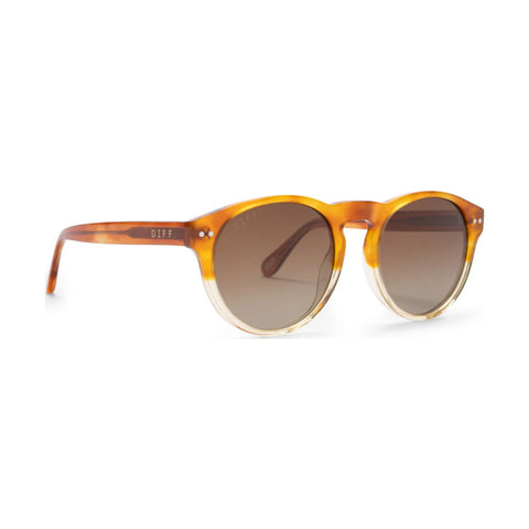 Diff Eyewear Cody Sunglasses | Desert Sand + Polarized Brown Gradient