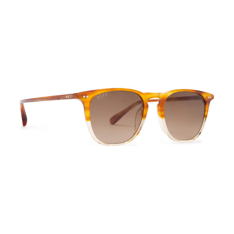 Diff Eyewear Maxwell Sunglasses | Desert Sand + Polarized Brown Gradient