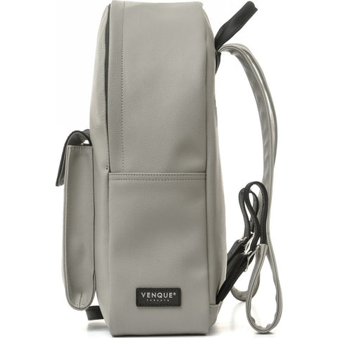 Venque Strada Mini Leather Backpack | Gray / Black 1601