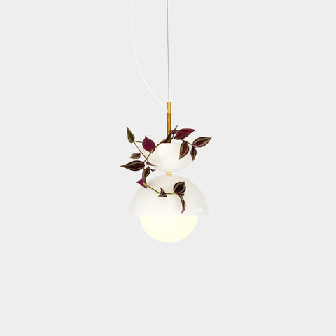 Object/Interface Hemisphere Pendant Light Planter | White HPP-W