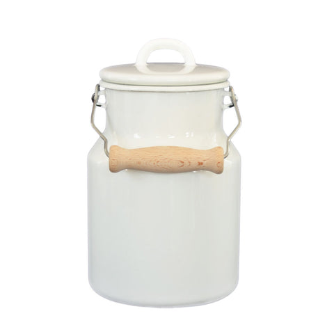 Riess Granny's 1.5L Milk Can with Lid | White