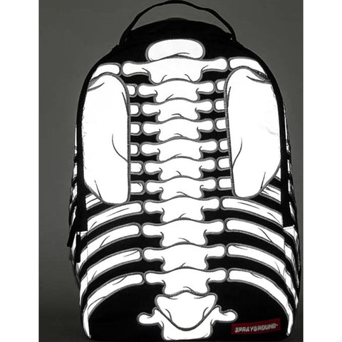 Sprayground Cut & Sew Reflective 3M Bones Backpack | 9100B602NSZ