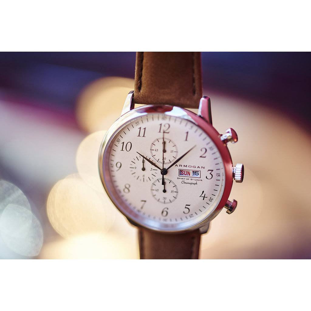 Armogan Spirit of St. Louis Chronograph Watch | White Chocolate FGSOSL01WC