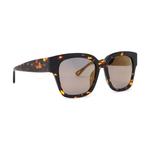 Diff Eyewear Bella Ii Sunglasses | Dark Tortoise + Gold Mirror Lens