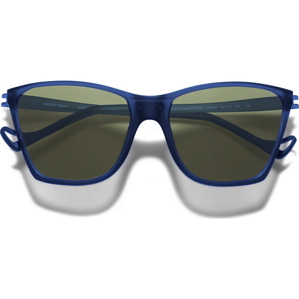 District Vision Keiichi Blue Sunglasses | District Sky G15