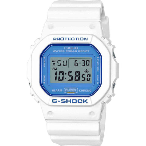 Casio G-Shock White and Blue Series DW5600WB-7 Watch | White/Blue