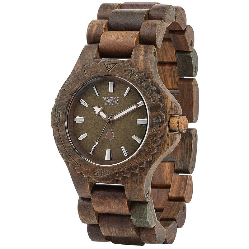 WeWood Date Guaiaco Wood Watch | Army