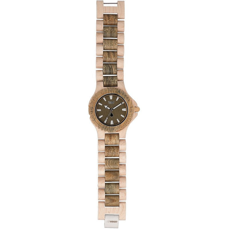 WeWood Date Eco Chic Wood Watch | Beige/Army