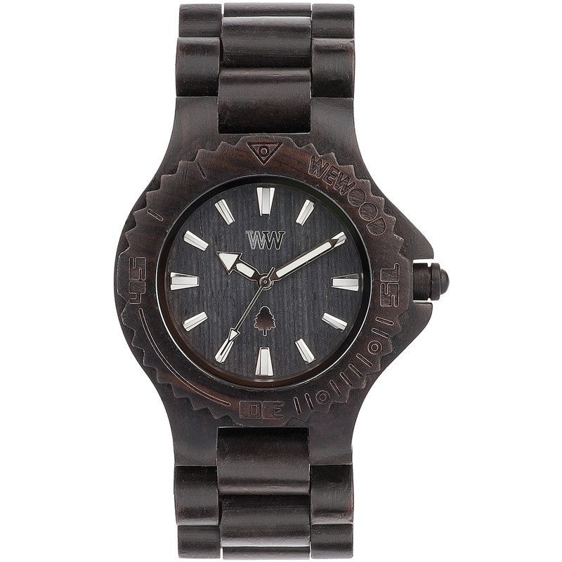 WeWood Date Blackwood Wood Watch | Black