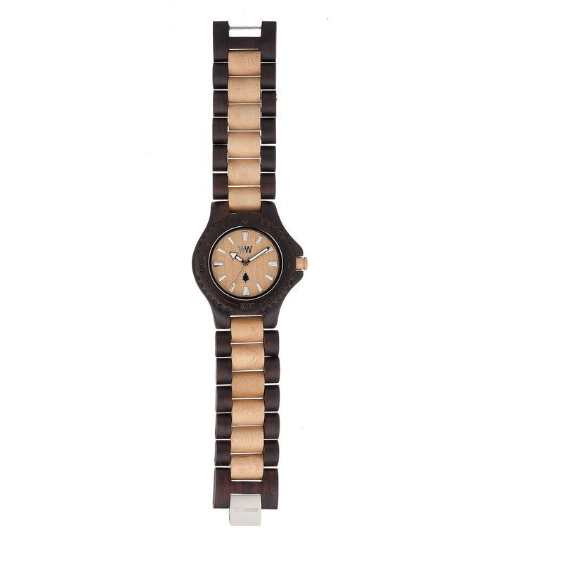 WeWood Date Scratch Proof Wood Watch | Chocolate/Beige