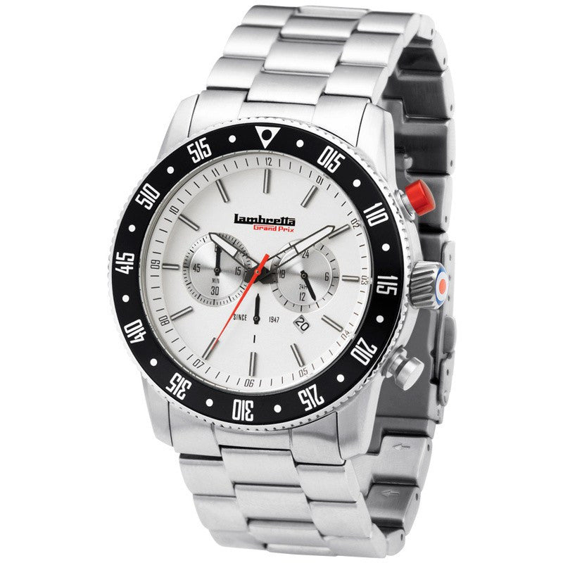 Lambretta De Luxe Chrono BT Watch | Silver 2161SIL