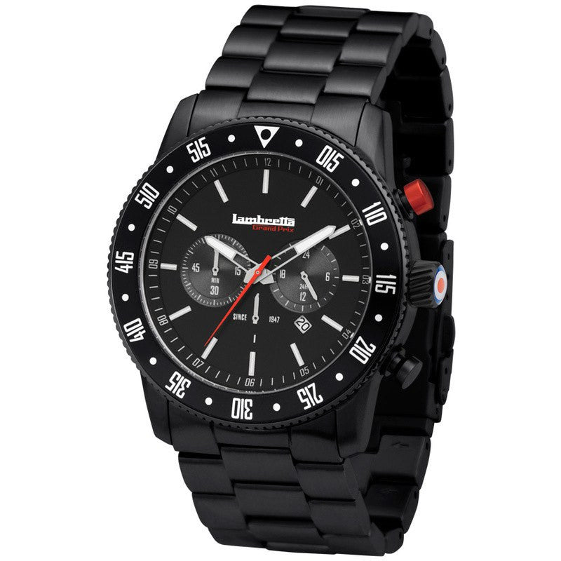 Lambretta De Luxe Chrono BT Watch | Black 2162BLA