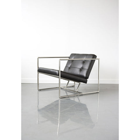 Gus* Modern Delano Chair V2 | Jet Black Leather ECCHDELV-jetbla-polsta