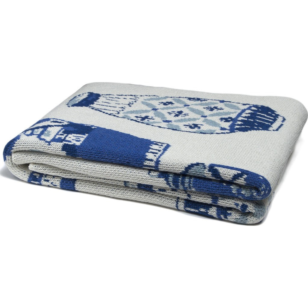 in2green Delft Eco Throw | Blue BL01DF1