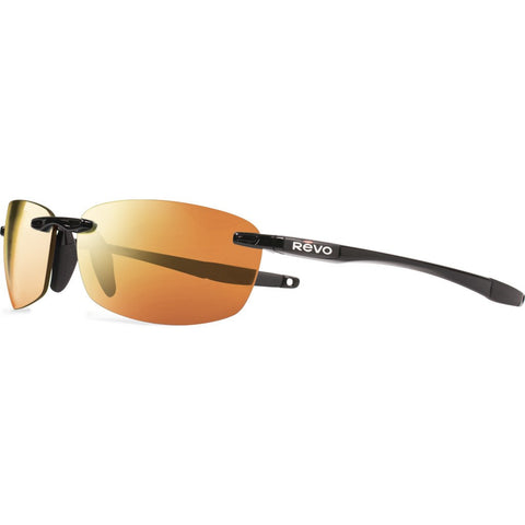 Revo Eyewear Descend E Black Sunglasses | Solar Orange RE 4060 01 OG