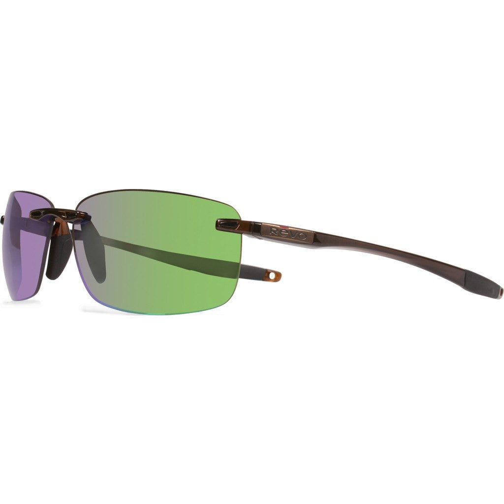 Revo Eyewear Descend N Crystal Brown Sunglasses | Green Water RE 4059 02 GN