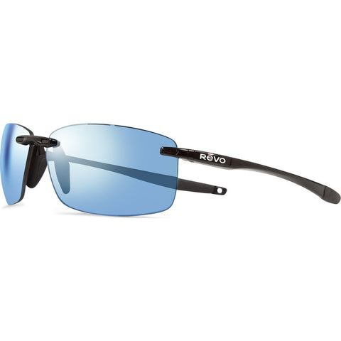 Rēvo Eyewear Descend N Black Sunglasses | Blue Water