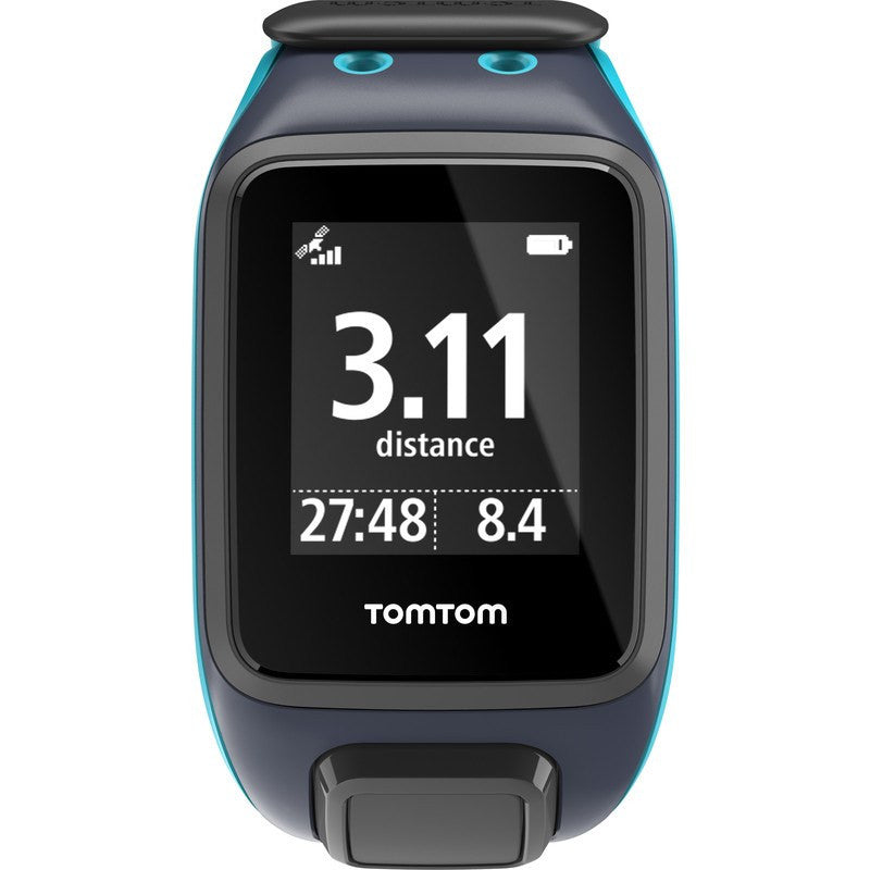TomTom Spark Music + Cardio Large Watch | Sky Captain/Scuba Blue 1RFM.002.07