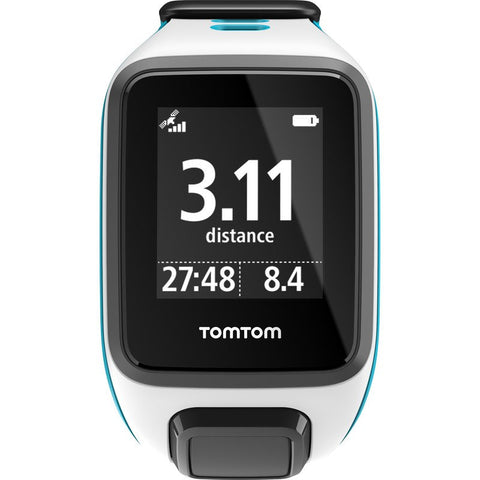 TomTom Spark Small Watch | White/Scuba Blue 1RE0.002.08