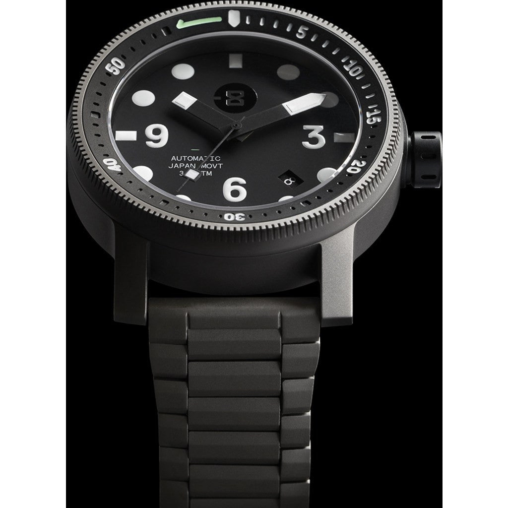 MINUS-8 Diver Gunmetal/Black Watch | Titanium P024-013-TI-ML