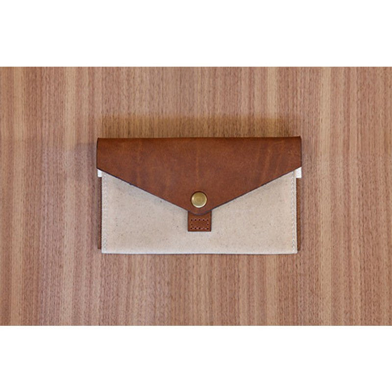 DODOcase Leather & Canvas Phone Clutch | Tan