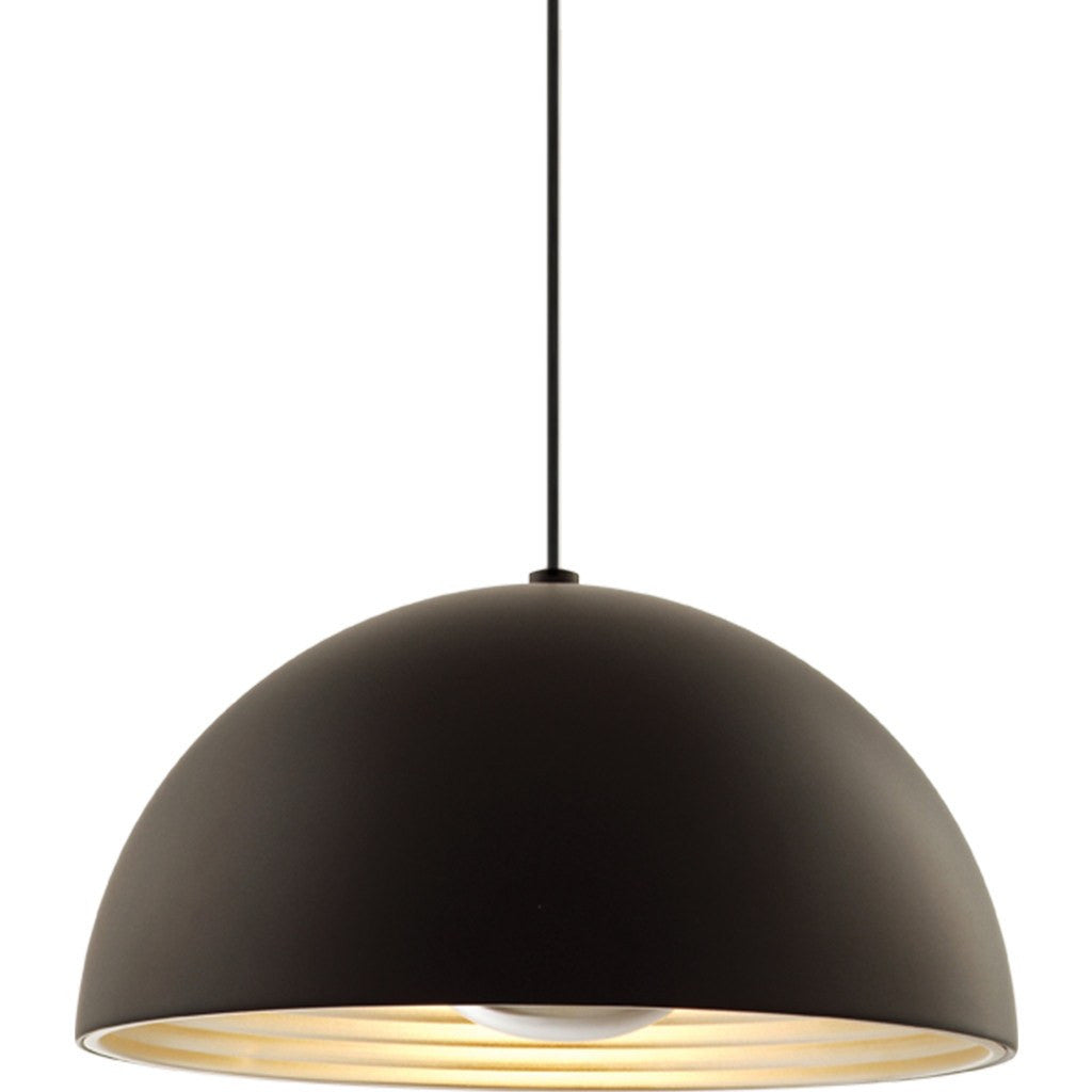 Seed Design Dome Medium Pendant Lamp | Black SQ-360MP-BK