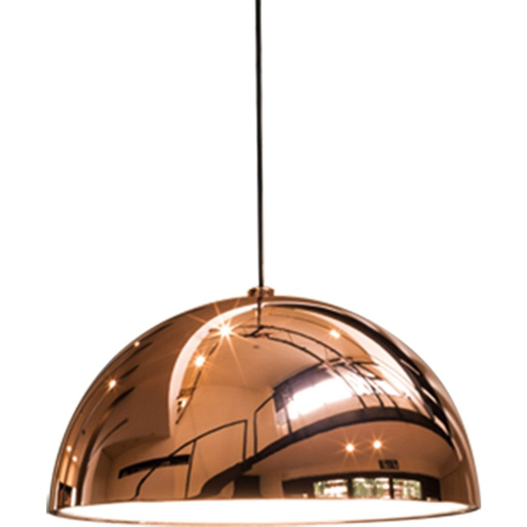 Seed design dome large pendant lamp copper