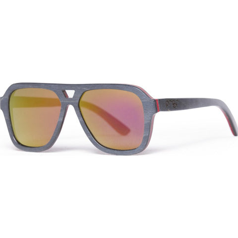 Proof Donor Skate Black Fire Sunglasses | Mirrored Lens