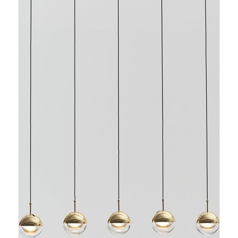 Seed Design Dora 5-Light Pendant | Brass