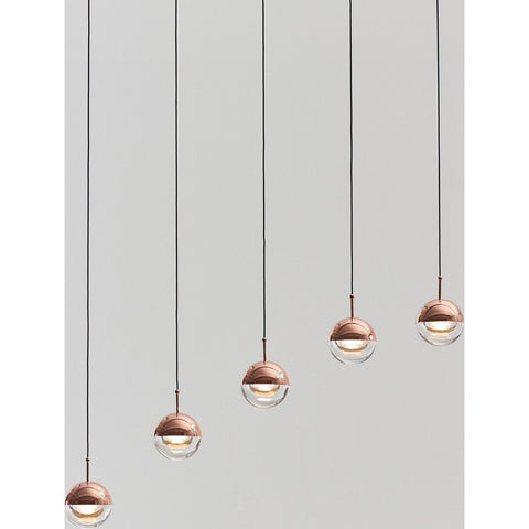 Seed Design Dora 5-Light Pendant | Copper