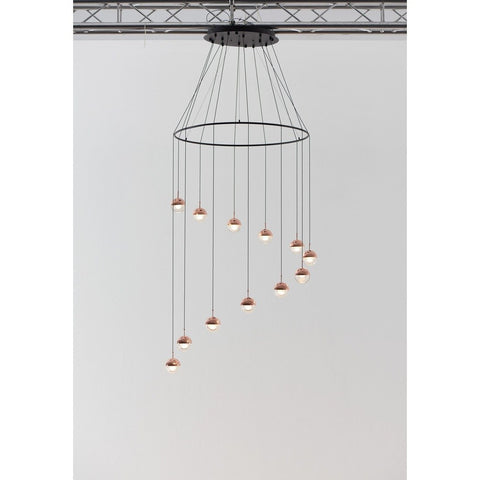 Seed Design Dora 12-Light Pendant With Ring | Copper