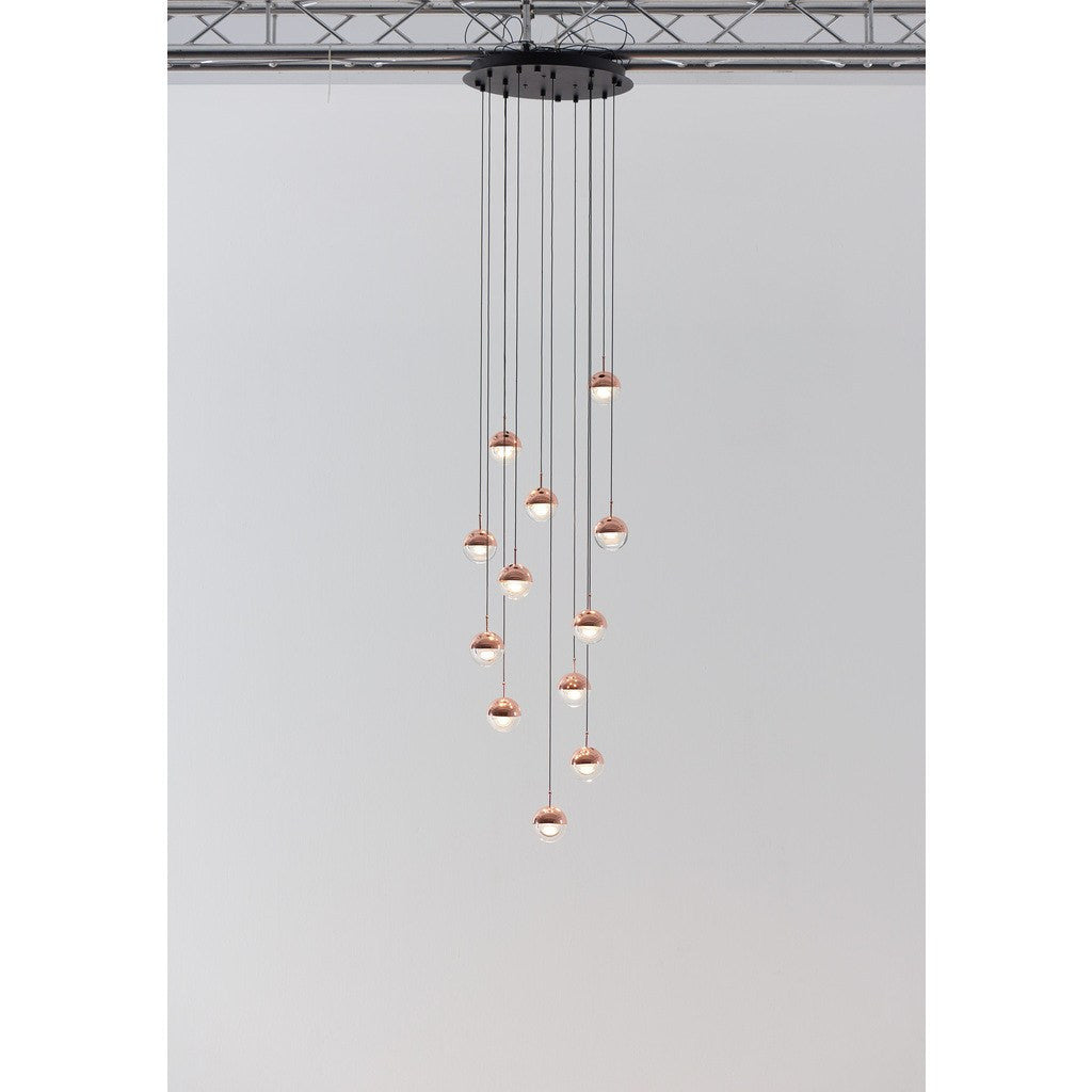 Seed Design Dora 12-Light Pendant | Copper