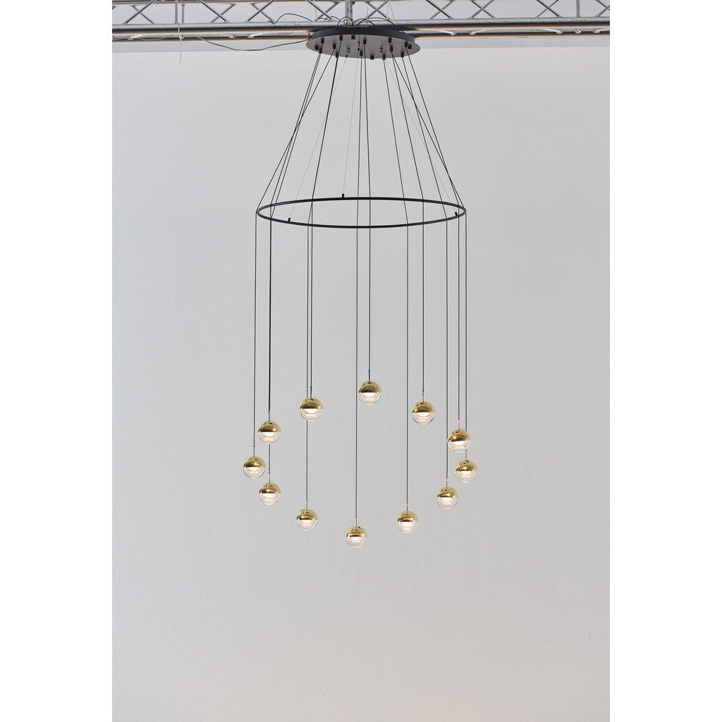 Seed Design Dora 12-Light Pendant With Ring | Brass
