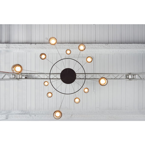 Seed Design Dora Pendant 12-Light set With Ring | Black