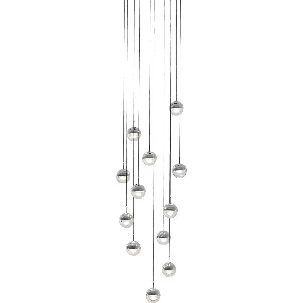 Seed Design Dora Pendant 12 Light Set | Chrome SLD-1010P12-CRM