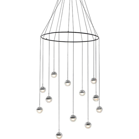 Seed Design Dora Pendant 12 Light Set With Ring | Chrome SLD-1010PC12-CRM