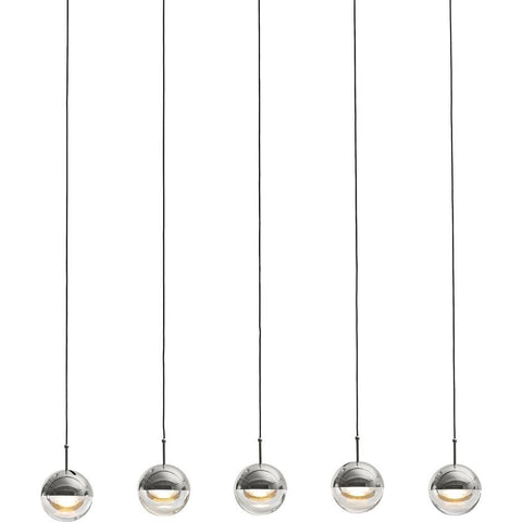 Seed Design Dora Pendant 5 Light Set | Chrome SLD-1010PL5-CRM