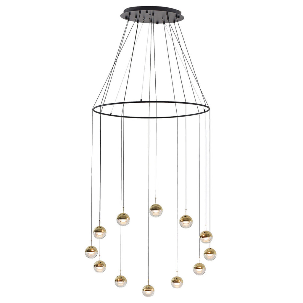 Seed Design Dora Pendant 12-Light Set With Ring | Brass
