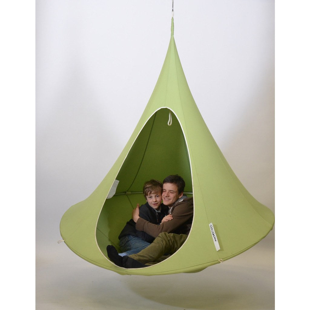 Cacoon Double Hanging Hammock | Leaf Green DG002