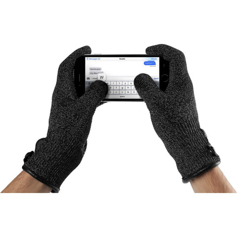 Mujjo Double Layered Touchscreen Gloves | Black Size M MUJJO-GLKN-012-M