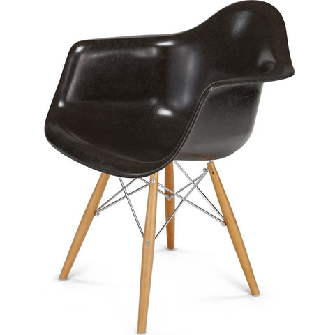 Modernica Case Study Maple Dowel Arm Shell Chair | Chrome/Oatmeal FIB-W-DSA-CHR-MAP