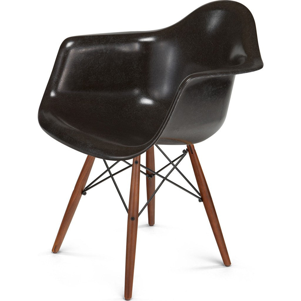 ... Modernica Case Study Walnut Dowel Arm Shell Chair | Black/Jet Black  FIB W ...