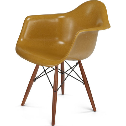 Modernica Case Study Walnut Dowel Arm Shell Chair | Black/Jet Black FIB-W-DSA-BLK-WAL