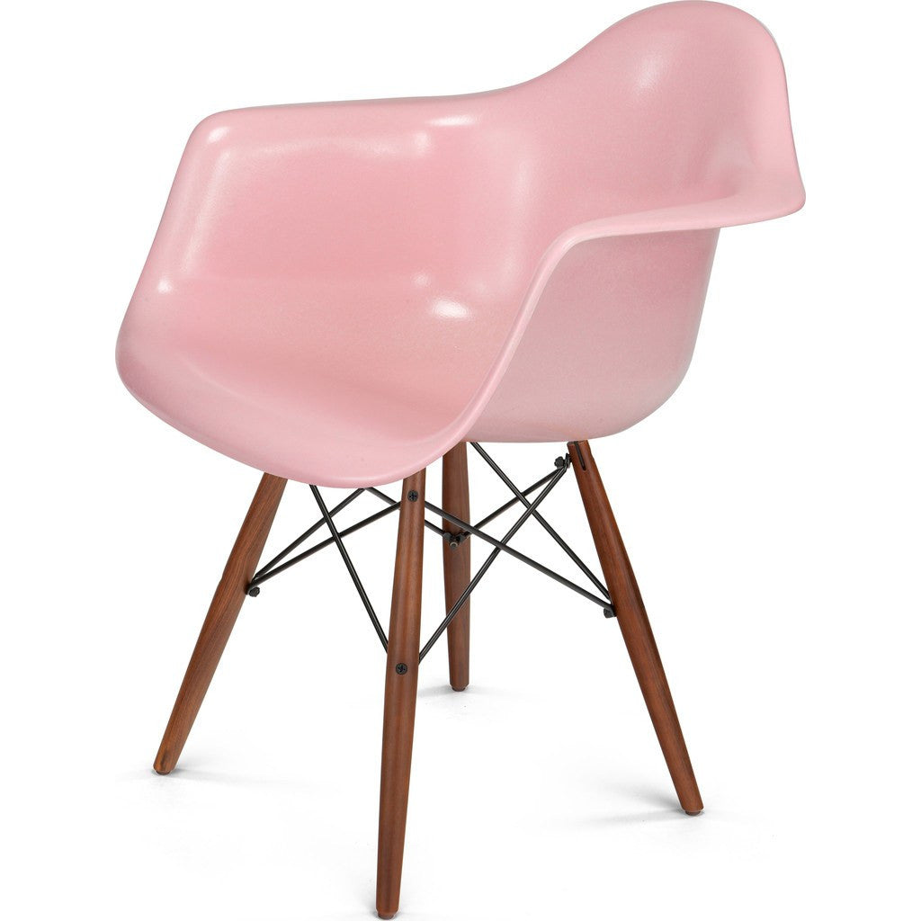 Modernica Case Study Walnut Dowel Arm Shell Chair | Black/Peacock FIB-W-DSA-BLK-WAL