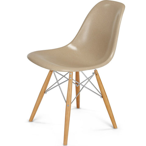 Modernica Case Study Maple Dowel Side Shell Chair | Chrome/Mustard FIB-W-DOS-CHR-MAP