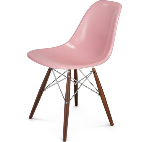 Modernica Case Study Walnut Dowel Side Shell Chair | Chrome/Oatmeal FIB-W-DOS-CHR-WAL